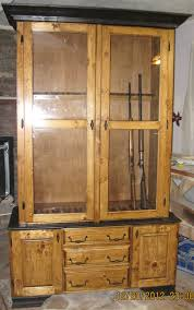 knotty pine gun cabinet visit www allenswoodworking com for more