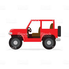 red jeep red jeep isolated on white stock vector art 806401974 istock