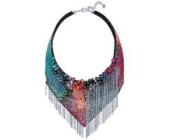 multi colored necklace images Haute couture necklace multi coloured jewellery swarovski jpg