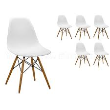 set of 6 charles u0026 ray eames style replica dsw eiffel dining
