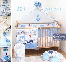 Nursery Cot Bedding Sets by 8 10 Piece Nursery Cot Bedding Set Pattern With Canopy Net