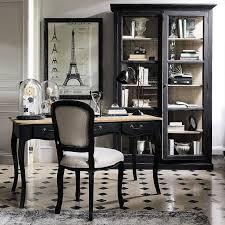 bureau architecte maison du monde bureau noir et blanc classique cabochons maisons du monde