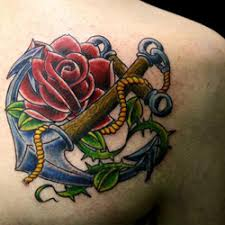 tattoo of a rose anchor tattoo meanings itattoodesigns com