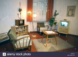 German Living Room Furniture Reproduction Of A Typical East German Living Room From The Fifties