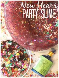 new years party poppers new years slime party activity and sensory play for kids