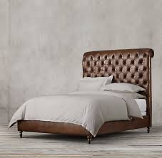 Chesterfield Sleigh Bed Chesterfield Leather Sleigh Bed Collection Rh