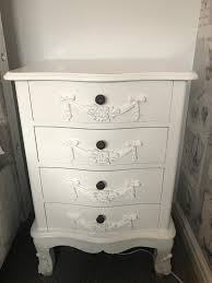 Toulouse White Bedroom Furniture Dunelm Toulouse White Bedroom Furniture Bedside Table And Chest Of