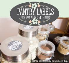 download free kitchen and pantry designed label templates