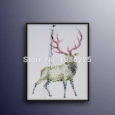 online get cheap oil paintings deer aliexpress com alibaba group