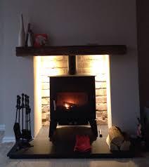 first lighting new log burner in a false chimney not quite