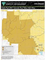 Colorado Desert Map by Castle Peak Wilderness Study Area Recreation Map Bureau Of Land