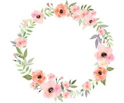 flower wreath watercolour flower wreath clip digital png vector