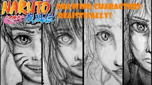 naruto in real life drawing naruto characters realistically