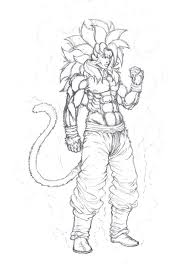 goku super saiyan 4 coloring pictures coloring pages for kids
