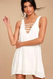 lucy love cage dress mini dress swing dress strappy dress