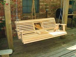 Wood Bench Plans Free by Deck Swing Ideas Free Porch Swing Plans Cup Holder Woodworking