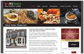 web design portfolio intimo italian restaurant website design