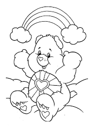 care bears rainbow love colouring care bears rainbow