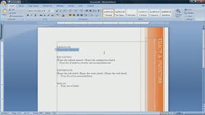 Creating A Resume On Word How To Create A Resume In Microsoft Word 2007 Youtube How To