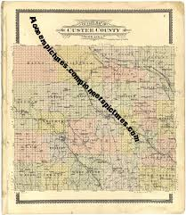 Plat Maps Custer County Nebraska Old Plat Maps Picture Photos Historical
