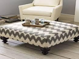 Padded Ottoman Sofa Fabulous Large Upholstered Footstool 19th Century