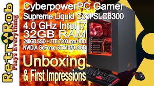 amazon cyberpowerpc black friday nvidia gtx 1070 powered cyberpower pc slc8300 gaming pc unboxing
