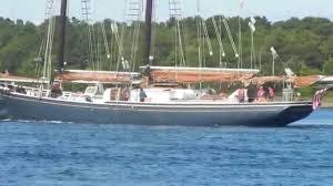 pilot schooner roseway on the cape cod canal 9 26 2015 youtube