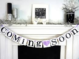 coming soon banner baby shower nursery sign baby u0027s