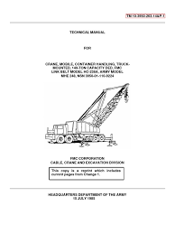 tm 10 3940 263 14p 1 140 ton crane fmc link belt mdl hc 238a mhe