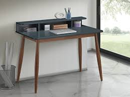 Gray Office Desk Midcentury Modern Desks Workstations Midcentury Modern Apartment