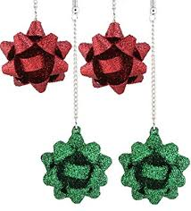 green gift bow vogueknock 2 pairs gift bow earring green flower