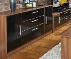 sideboard high gloss 8 drawer chest 4 4 bedroom furniture black