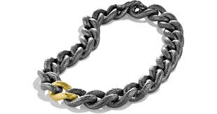 black chain link necklace images Lyst david yurman black gold curb link necklace in metallic jpeg