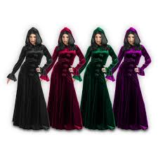 Victorian Dress Halloween Costume Vampire Costumes Women Velvet Robe Gothic Medieval Witch