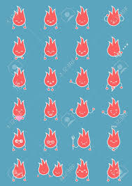 clean emoji flame fire twinkle smile vector clean isolate illustration