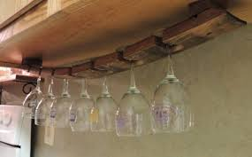 awesome under cabinet hanging wine glass holder tags under