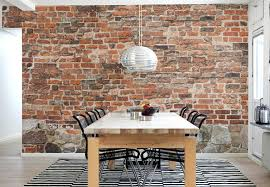 file info exposed brick wallpaper beautiful traditional dining