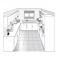 plan de cuisines plan cuisine en parallele intéressant plan cuisine en parallele