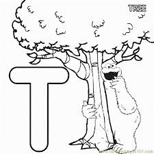 abc letter tree sesame street cookie coloring pages 7