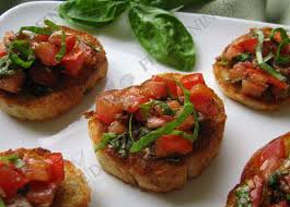 dining canapes recipes tomato basil bruschetta with balsamic vinegar finedinings com recipe