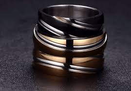 coloured titanium rings images Titanium multi colour polished band ring pj png