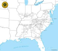 Southeast United States Map by The Southern Railway