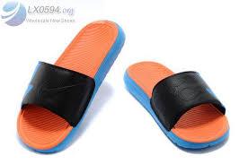 kd slides factory wholesale nike kd slides mens blue black orange sandals