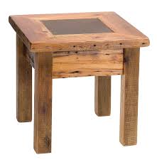 wood end tables white finger