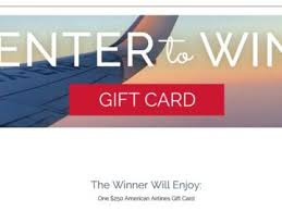 win a gift card a 250 american airlines gift card