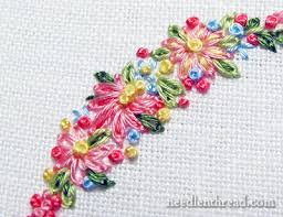 Flower Designs For Embroidery Tutorials For Hand Embroidered Leaves U0026 Flowers U2013 Needlenthread Com