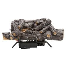 emberglow savannah oak 18 in vent free natural gas fireplace logs