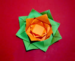 easy paper flower origami rose flower christmas ornament gift