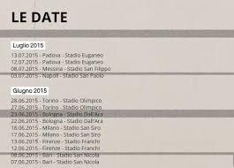 vasco bologna biglietti vasco live kom 015 scaletta info biglietti e date tour