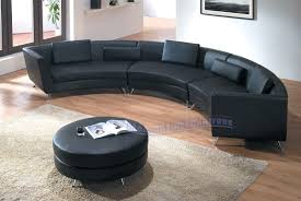 Curved Sofa Sectional Modern by Living Room Amazing Cabinet Green Plant Area Carpet Curved White